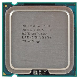 Intel Core 2 Duo E7500 (3M Cache, 2.93 GHz, 1066 MHz FSB)